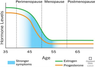 hormone levels of the different stages of menopause